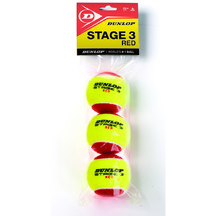 BOLA DE TÊNIS DUNLOP STAGE 3 RED